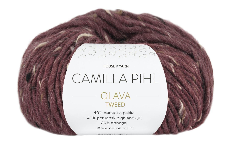Camilla Pihl Garn - OLAVA TWEED 985-Bordaux Tweed