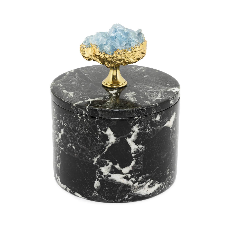 ABHIKA Box Lixus Round, SH H20 D16, Black