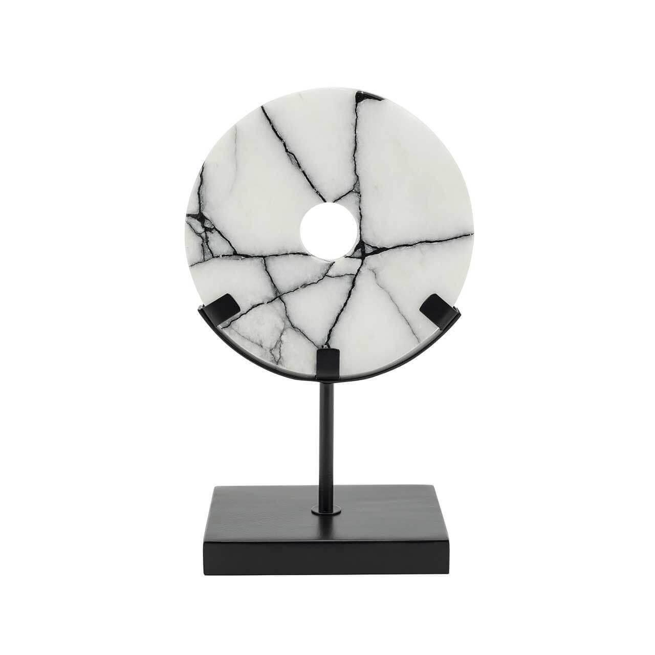 ABHIKA Disk Madison+Stand SM, H25 15,5x9,5 Black/White