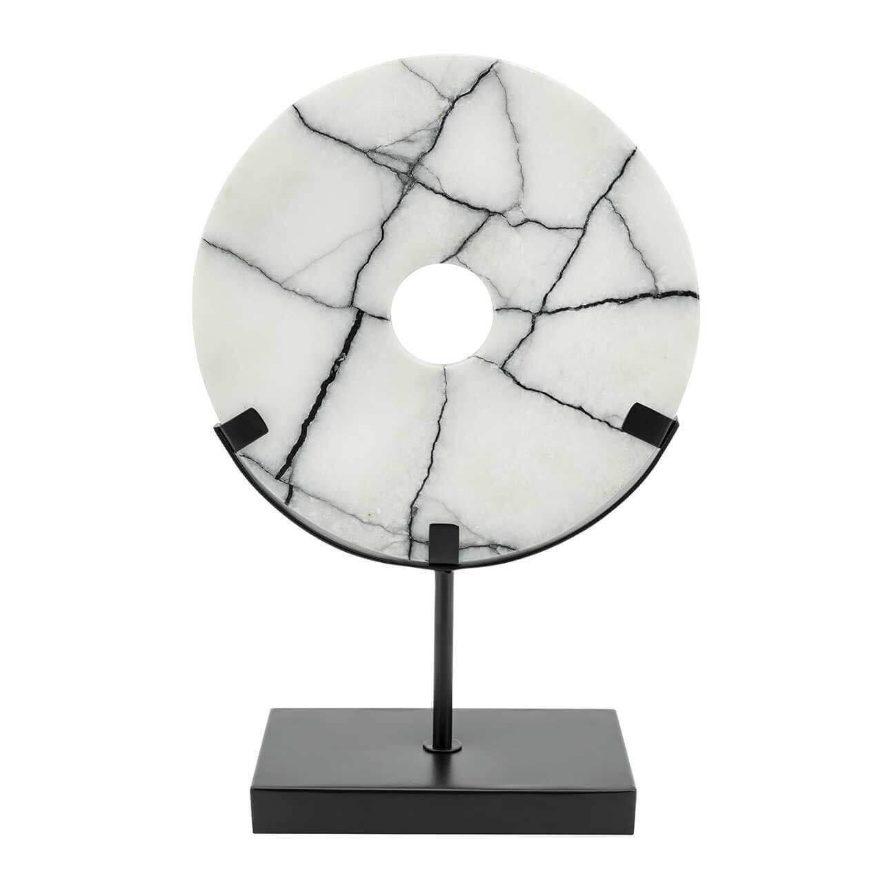 ABHIKA Disk Madison+Stand, H31 20x10, Black/White