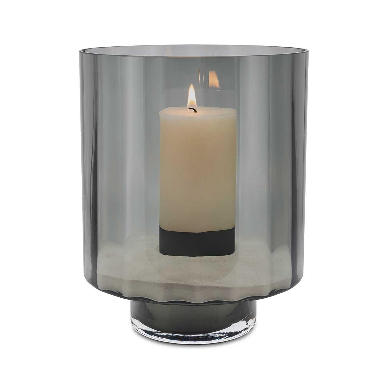 ABHIKA Vase Spin, H35 D28, Grey