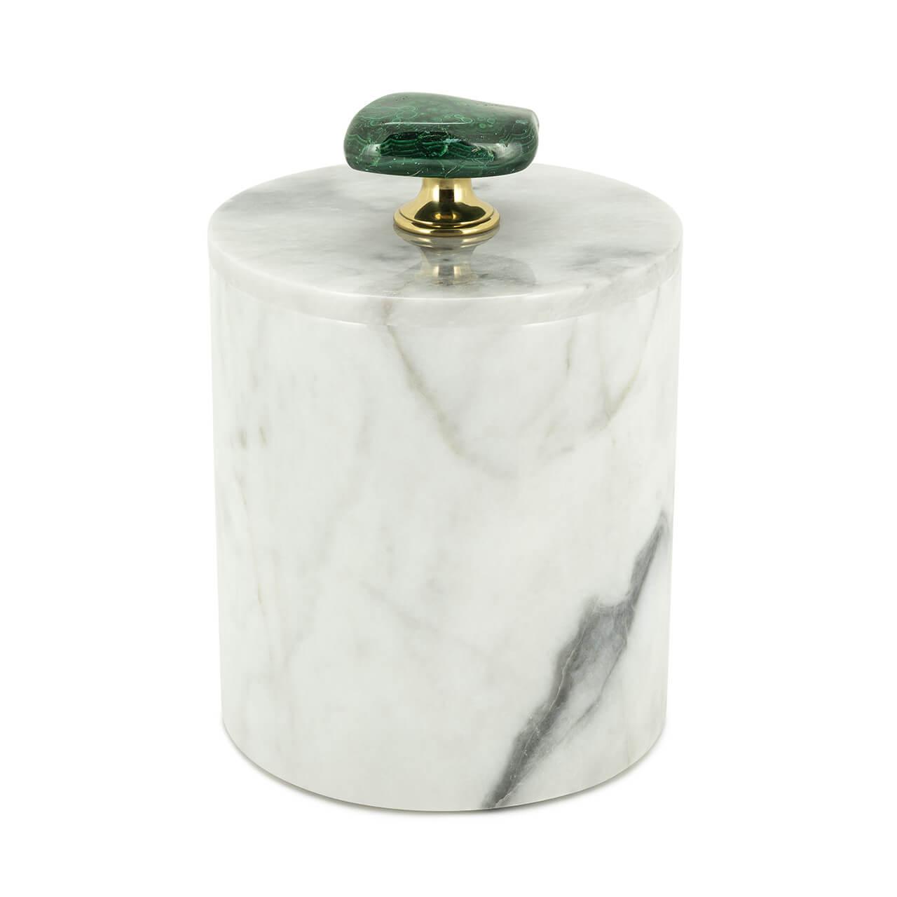 ABHIKA Box Lixus Malaki Tall, H20 D14, Green/White