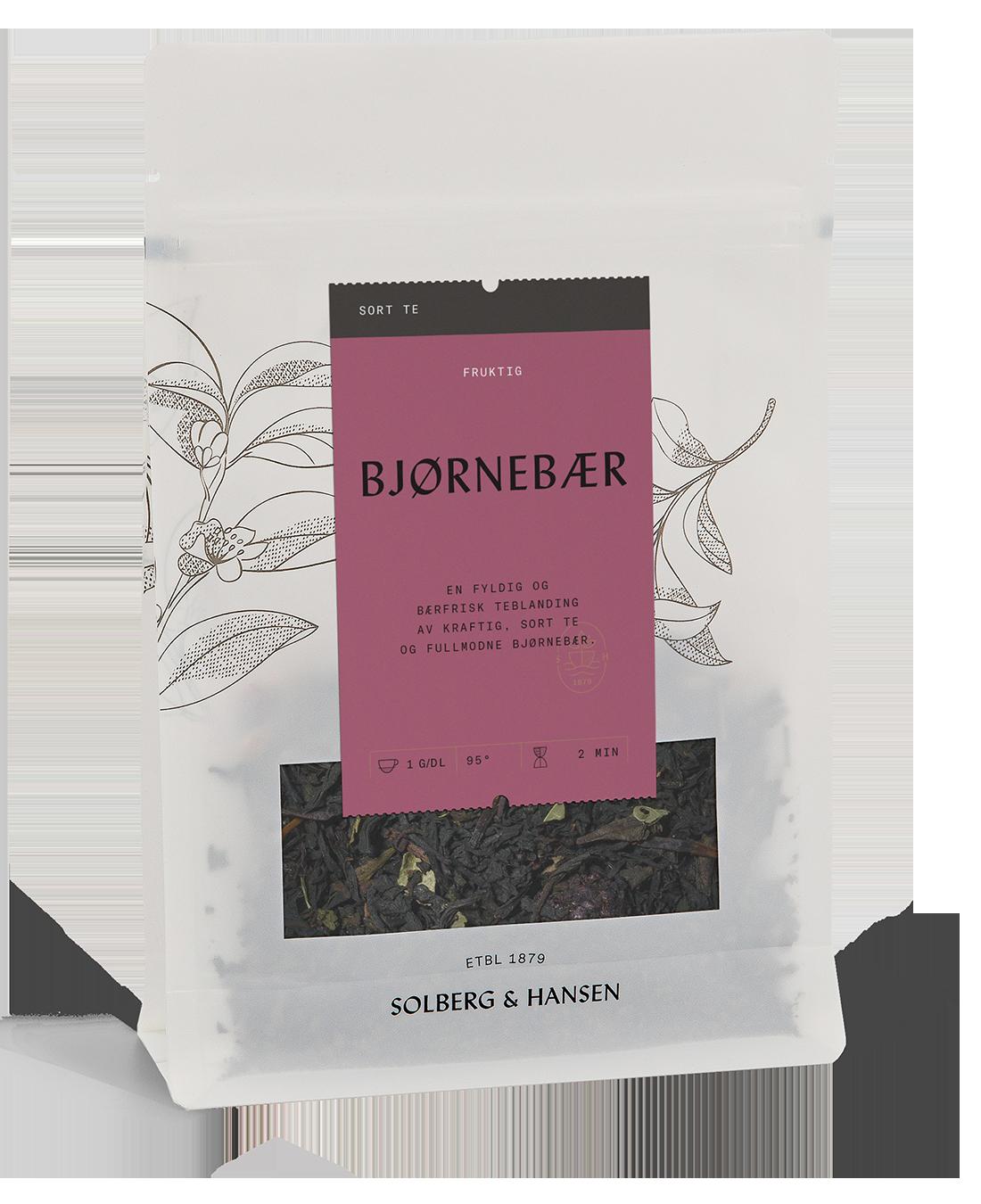Bjørnebær, sort te