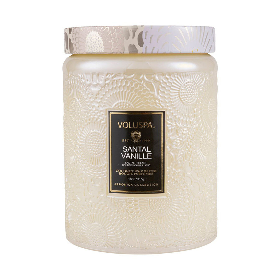 VOLUSPA duftlys large glass Santal Vanille
