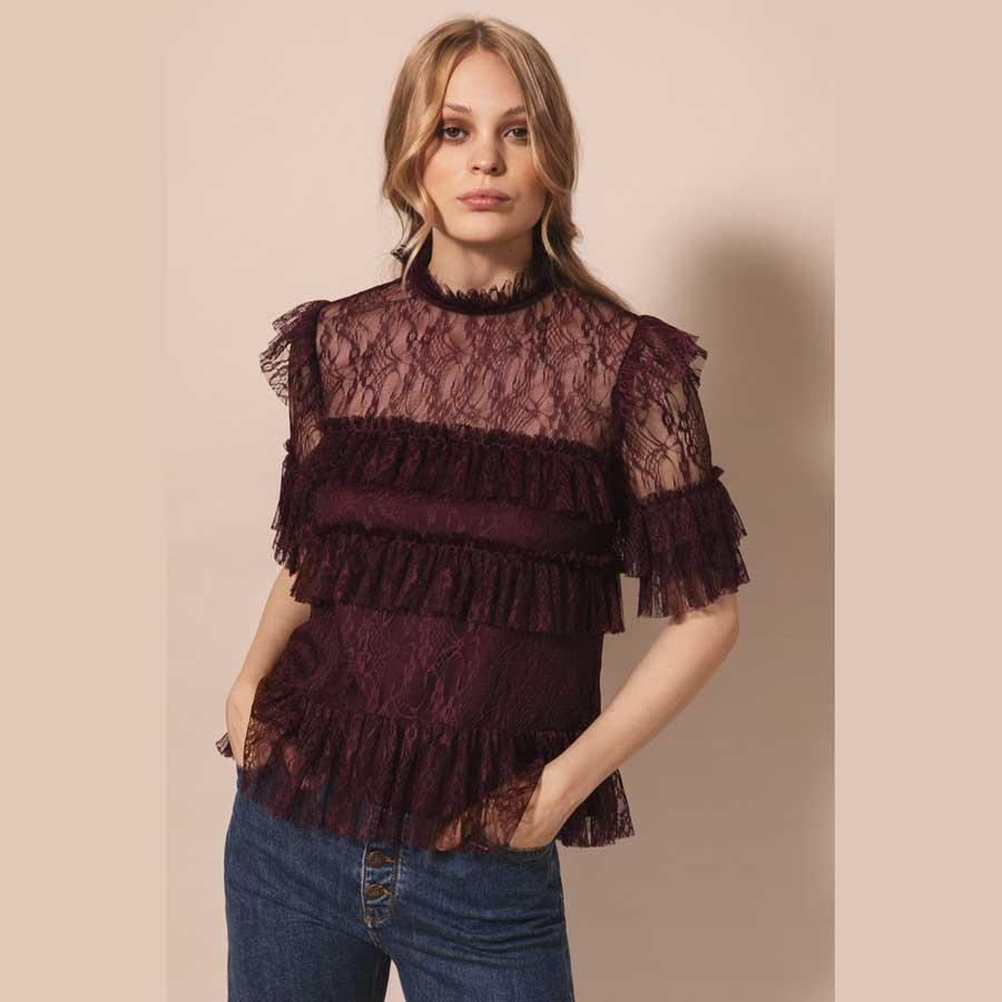 BY MALINA bluse Rachel deep wine