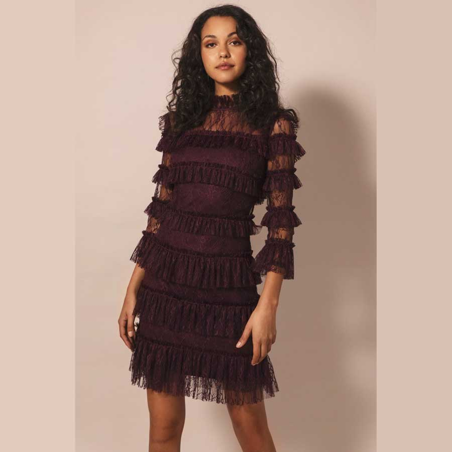 BY MALINA kjole Carmine Mini deep red