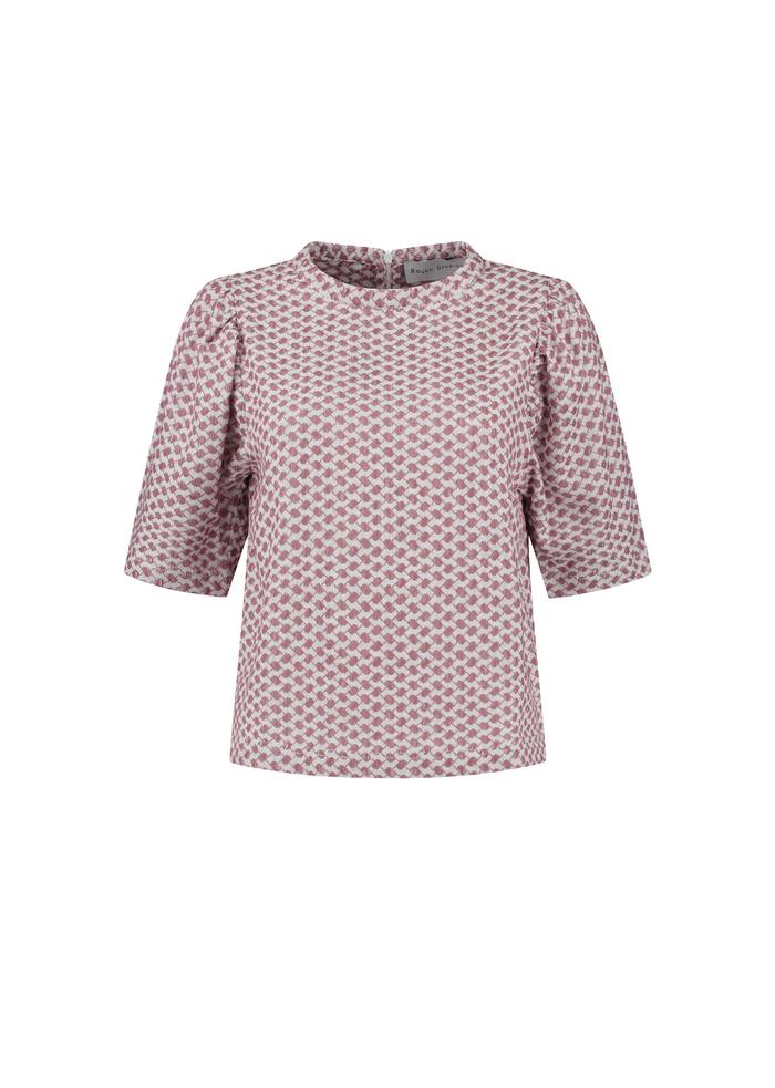 ROUGH STUDIOS skjorte Simone pink/white