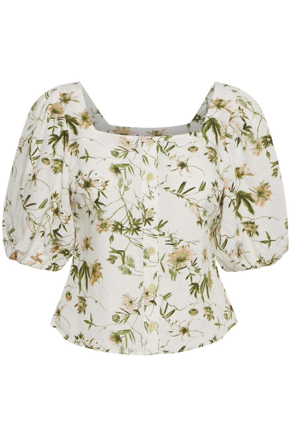 PART TWO bluse Inere green fragile print
