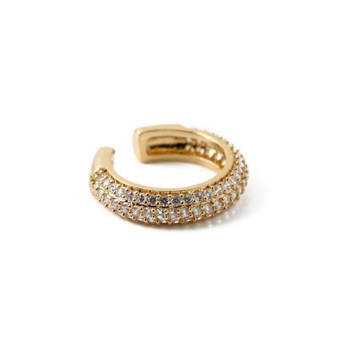 ORELIA ear cuff Domed Pave