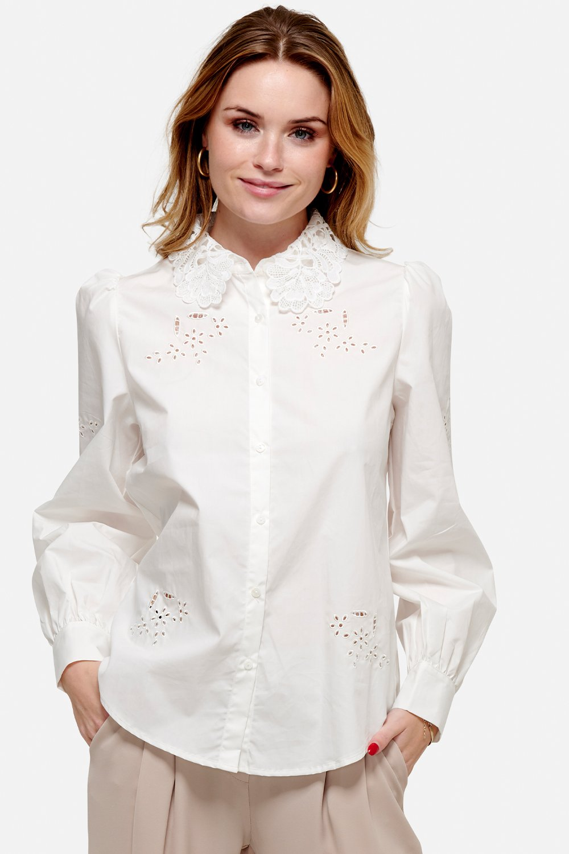 NOELLA skjorte Lucille white