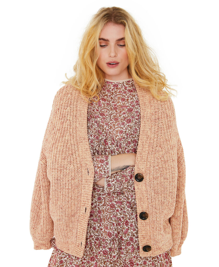 LINE OF OSLO cardigan Sugar S/M