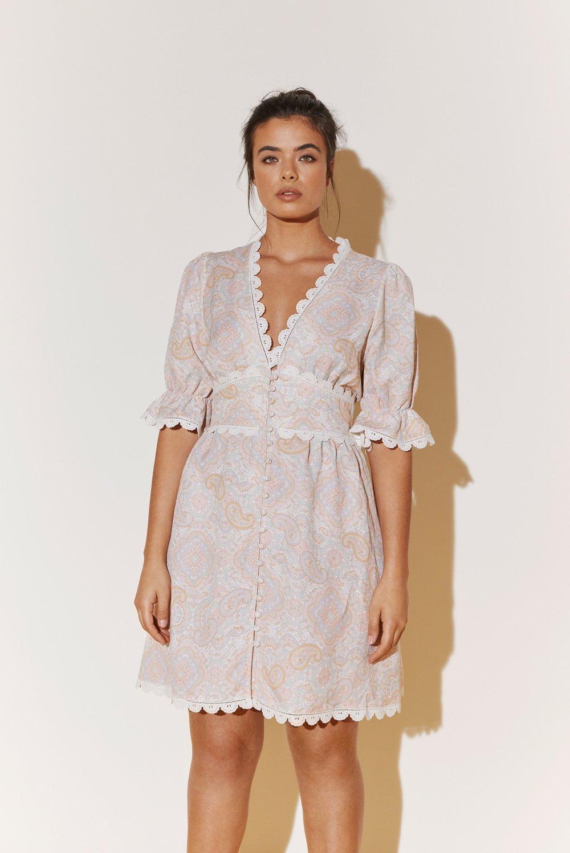 BY MALINA kjole Leonie pastel paisley