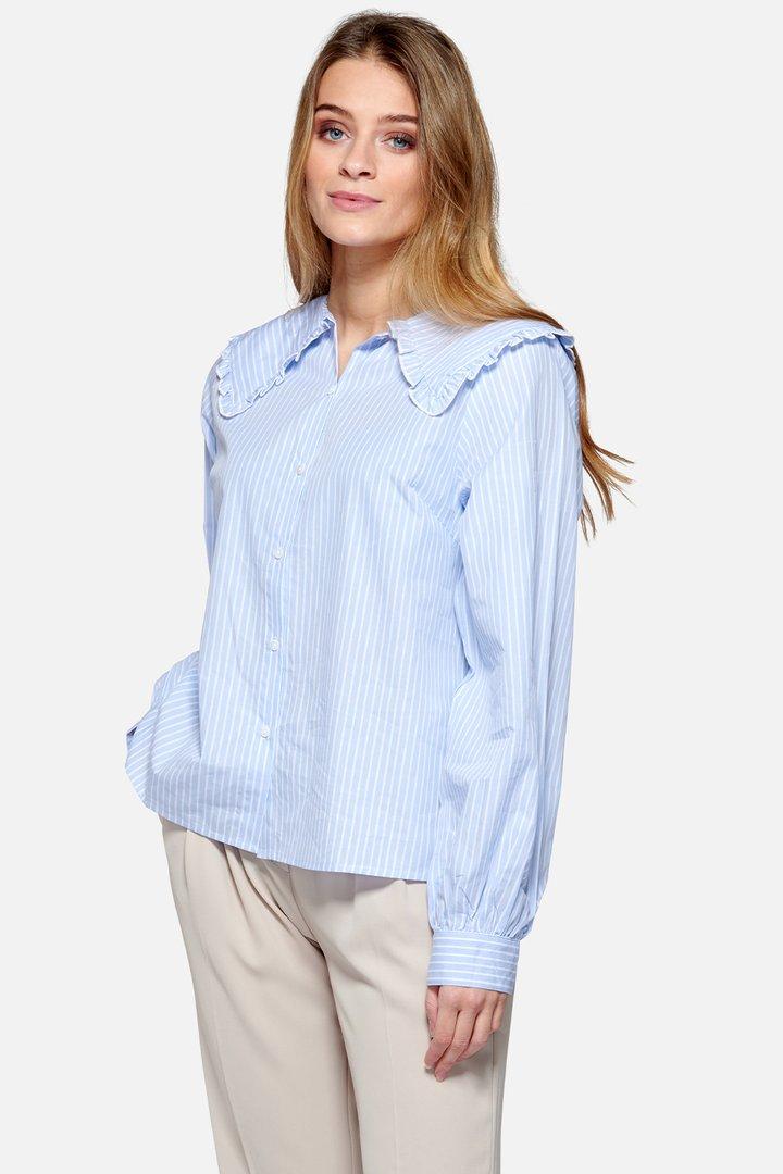NOELLA skjorte Abby blue stripe