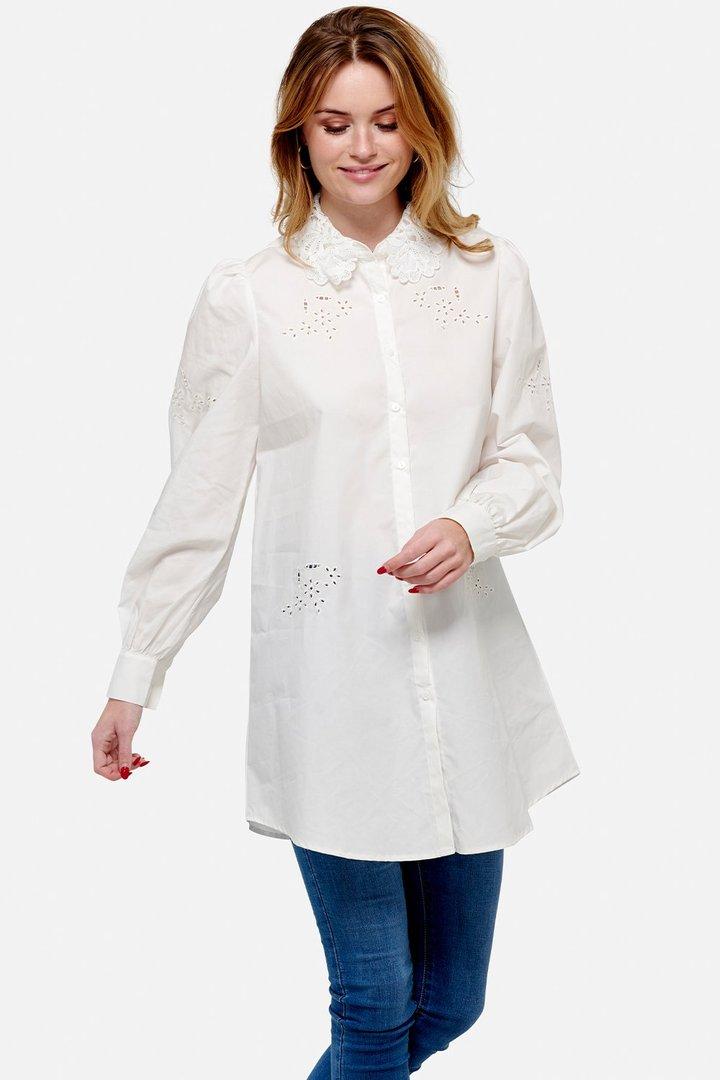 NOELLA skjorte lang Lucille white