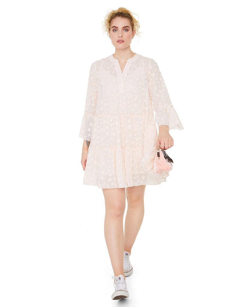 LINE OF OSLO kjole Daisy Flower pink