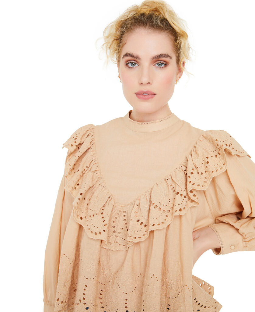 LINE OF OSLO bluse Adele Lace white