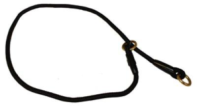 Alac halsbånd dressurstrup svart 6mmx50cm
