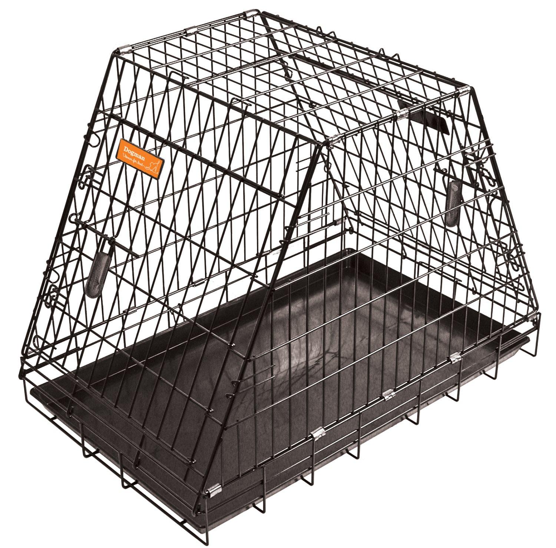 Hundebur svart nr 4 pyramide m/lik skrå