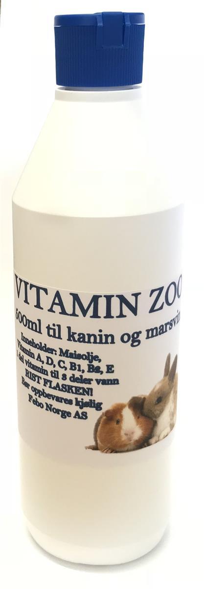 Vitamin Zoo til Kanin/Marsvin 500ml