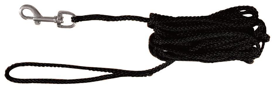 Trixie Sporline 5 m 5mm svart