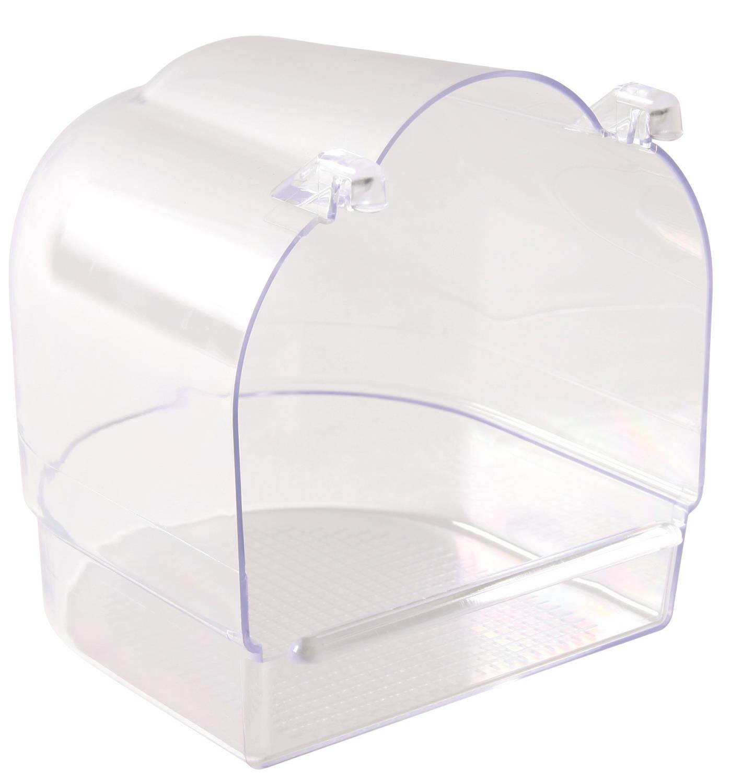 Fuglebadekar firkantet klar plast
