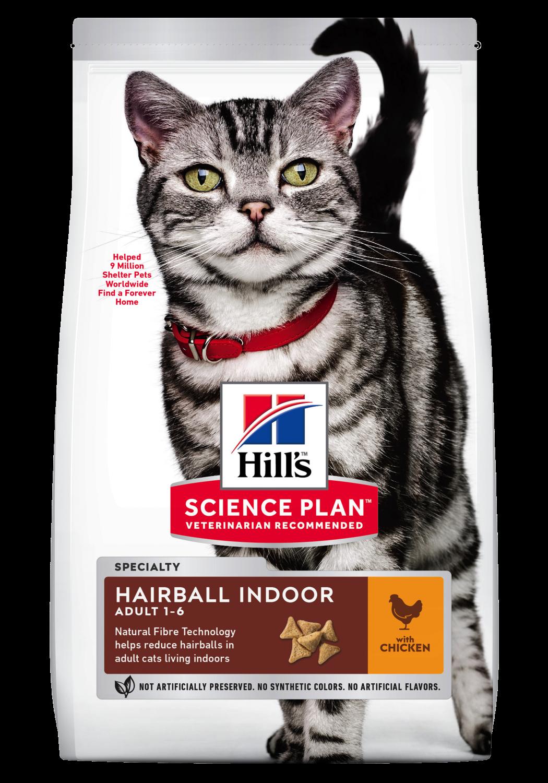 Hill's Feline Adult Hairball indoor chicken 1,5kg