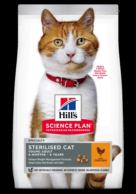 Hill's Feline Sterilised Young Adult kylling 1,5kg