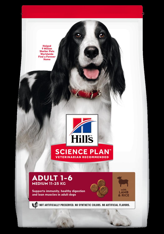 Hill's Canine Adult Medium Lam & Ris 12kg