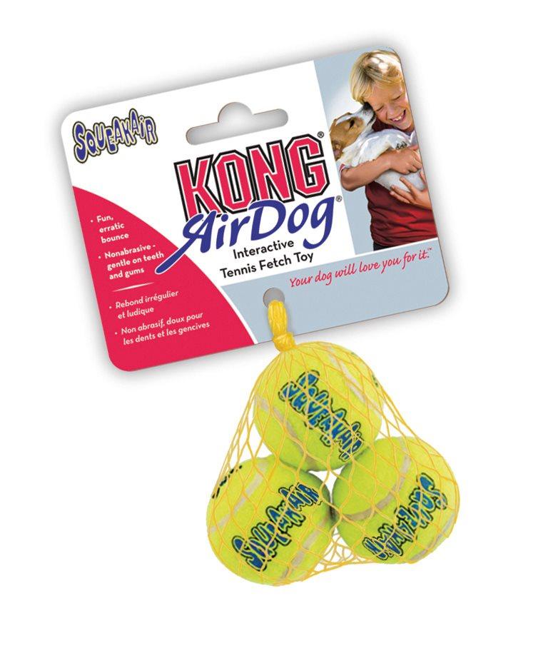 Air Kong Squeaker tennisball 3pk x-small
