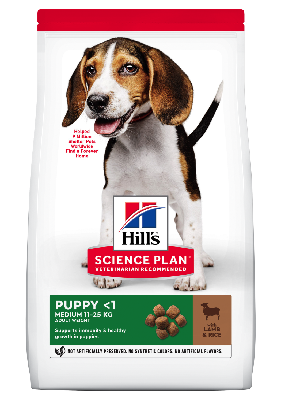 Hill's Canine Medium Puppy Lam & ris 12kg