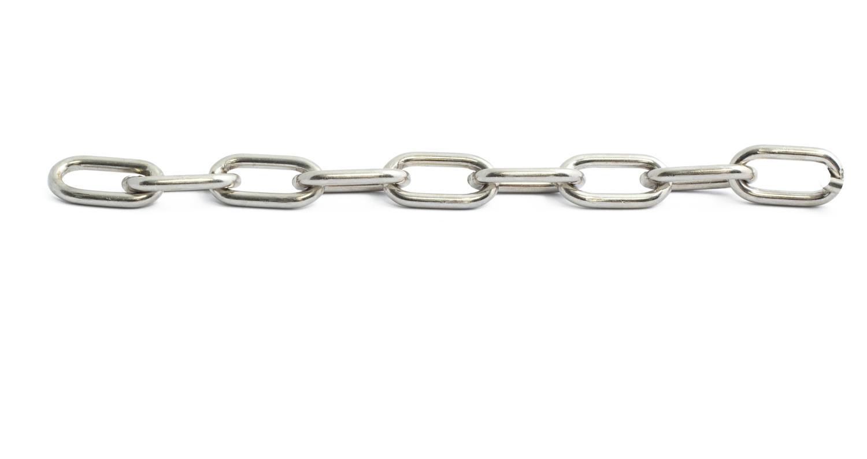 Kjetting halsband avlang kort 3,2mm 40cm