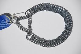 Trippel kjetting halsband 55cm