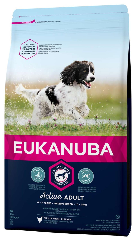 Eukanuba Active Adult Medium 3kg