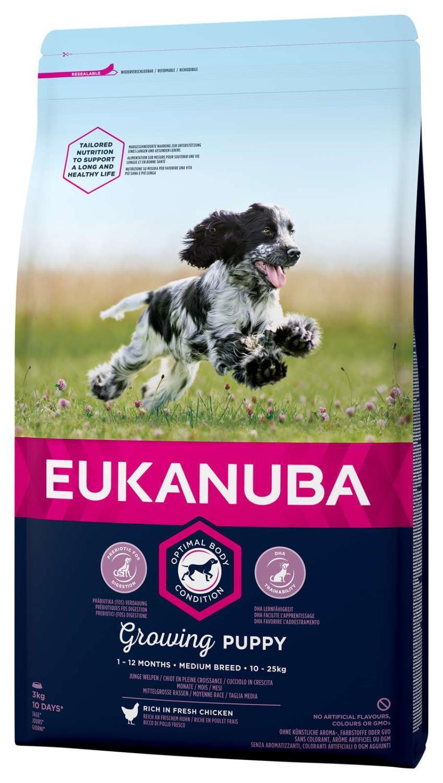Eukanuba Growing Puppy Medium 3 kg