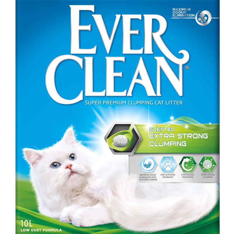 Ever clean extra strong clumping scented (grønn) 10L