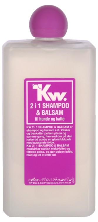 KW 2 i 1 shampoo & balsam 500ml
