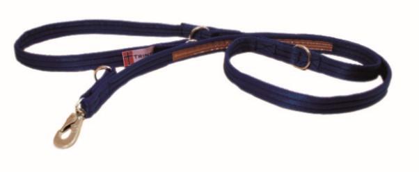 Kobbel i webb m/refleks universal blå 210cm 25mm