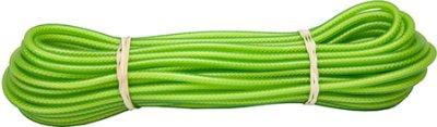 Alac sporline limegrønn gummiert 6mm 15m