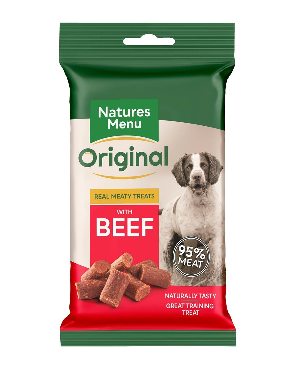 Natures menu NM godbit Biff 60gr 95% kjøtt