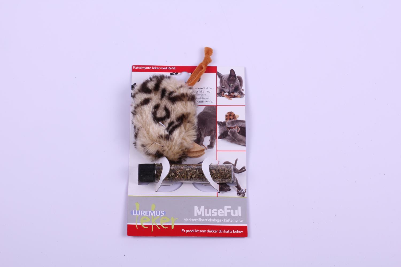 Lekemus museful m/kattemynte i rør