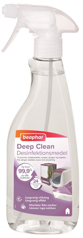 Beaphar Deep Clean Desinfeksjonsmiddel utstyr/bur 500ml