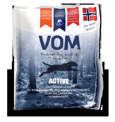 Vom & hundemat kjøttboller Active fullfor med laks 560g