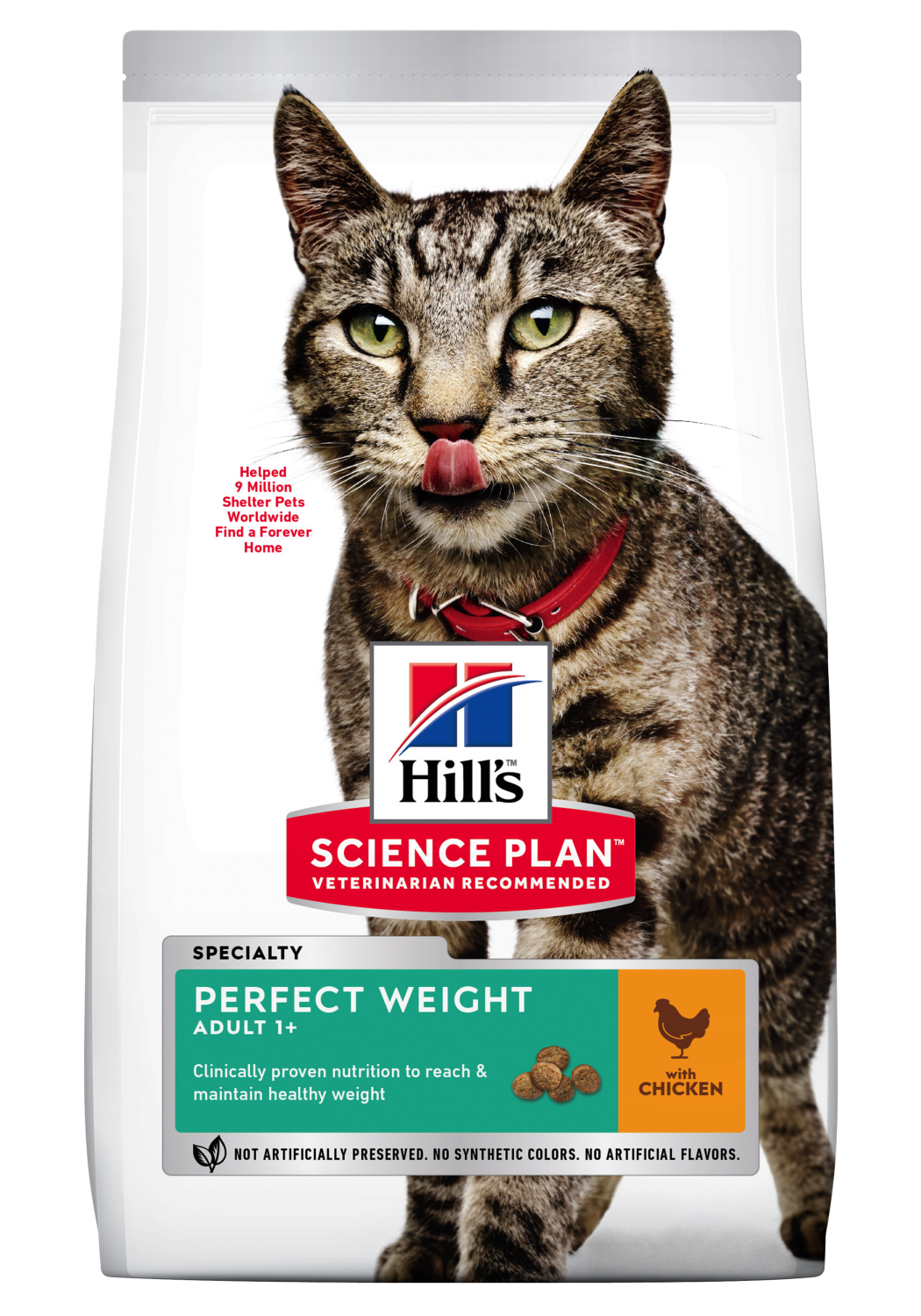 Hills Feline adult perfect weight 2,5 kg