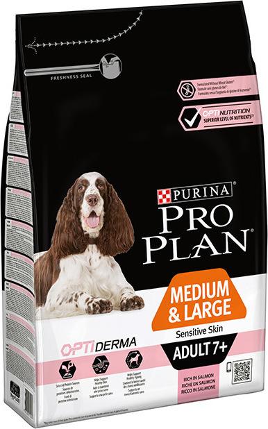 Pro plan Optiderma medium/large adult 7+ 3kg