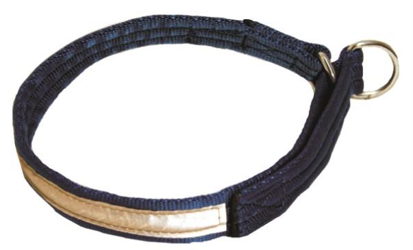 Halsbånd web m refleks blå 50cm