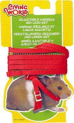 Hamstersele med kobbel, rød