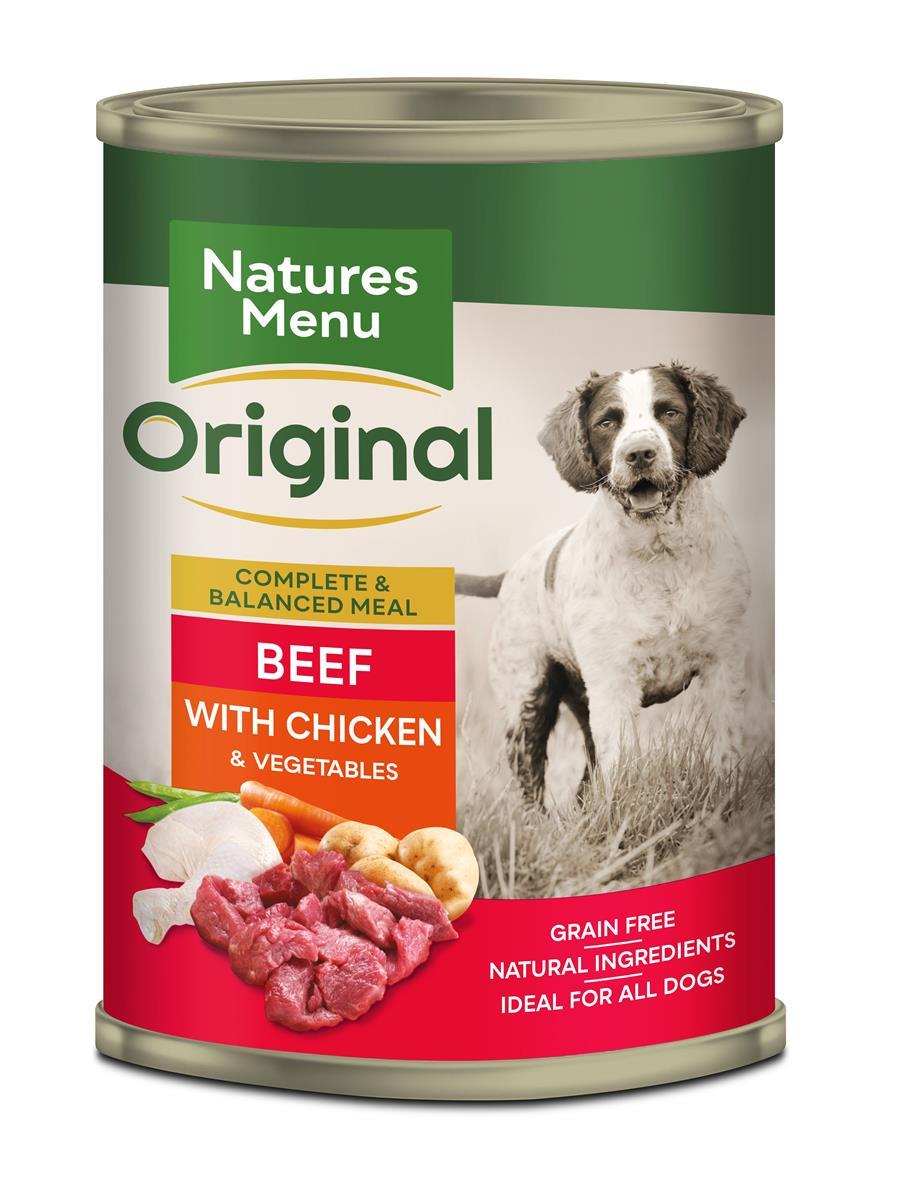Natures menu NM Boksmat hund med biff og kylling 400g
