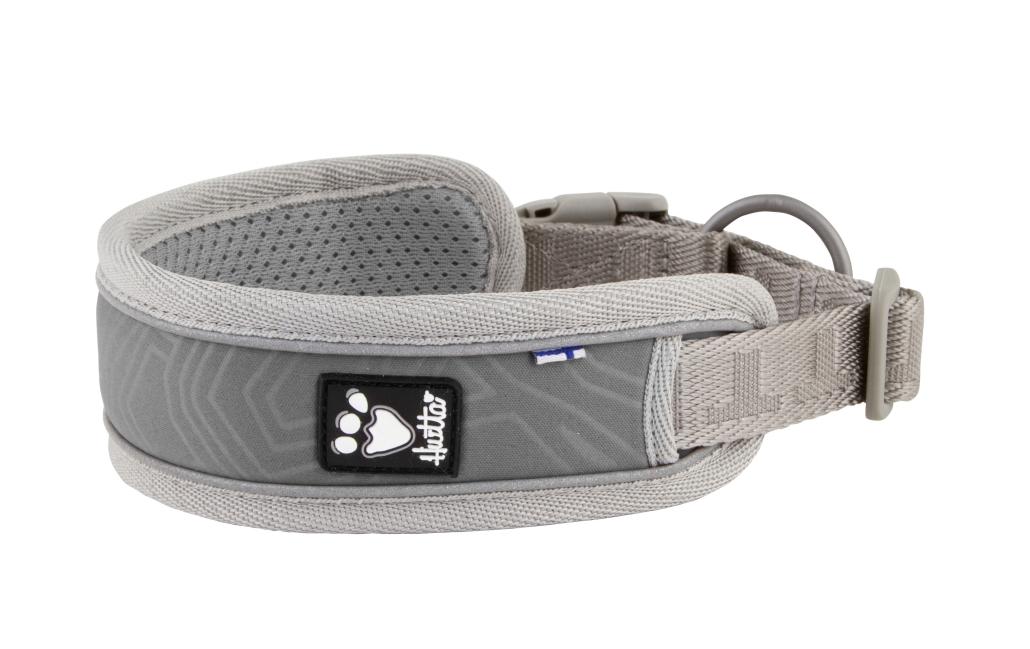 Hurtta halsbånd adventure 45-55cm grå
