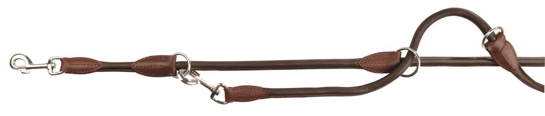 Dressurkobbel rundsydd lær brun 8mm 2m