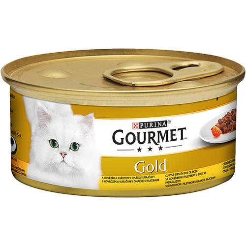 Gourmet Gold Oksekjøtt og Kylling 85g